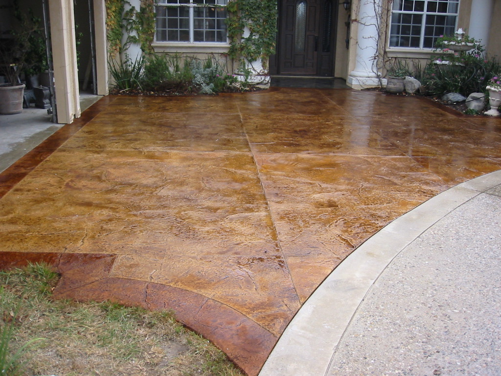 Stain existing concrete