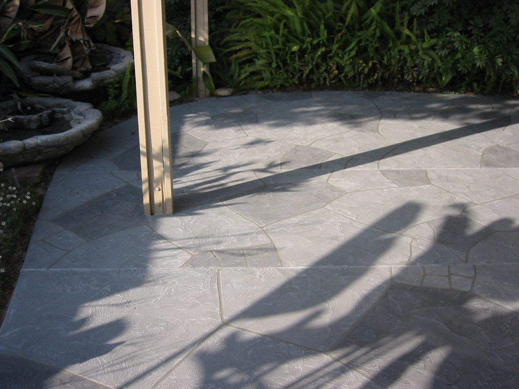flagstone patio concrete resurfacing